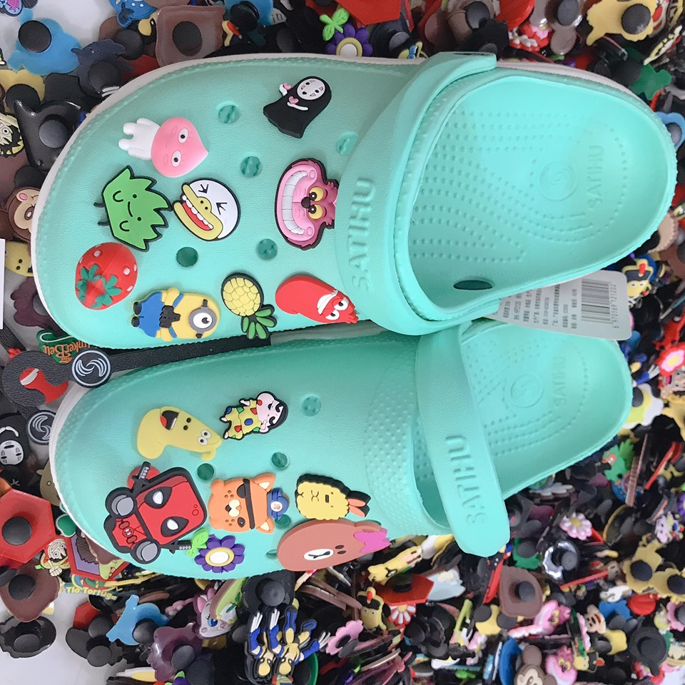 crocs satihu xanh mint de trang