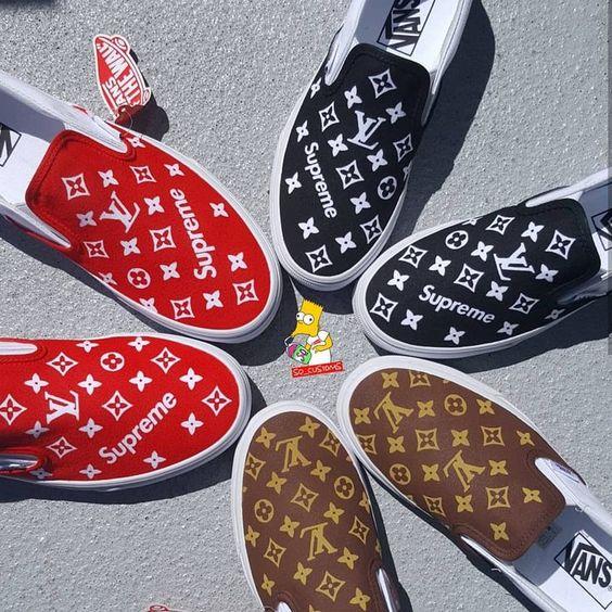 lv custom slip on